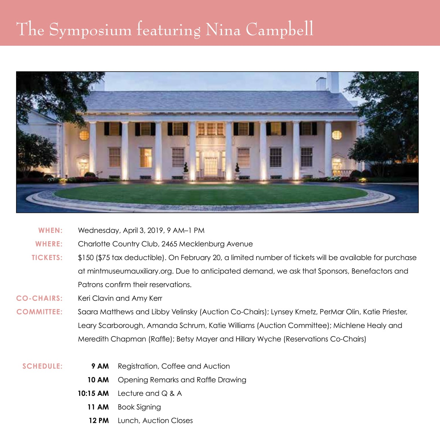 Spring Symposium with Nina Campbell